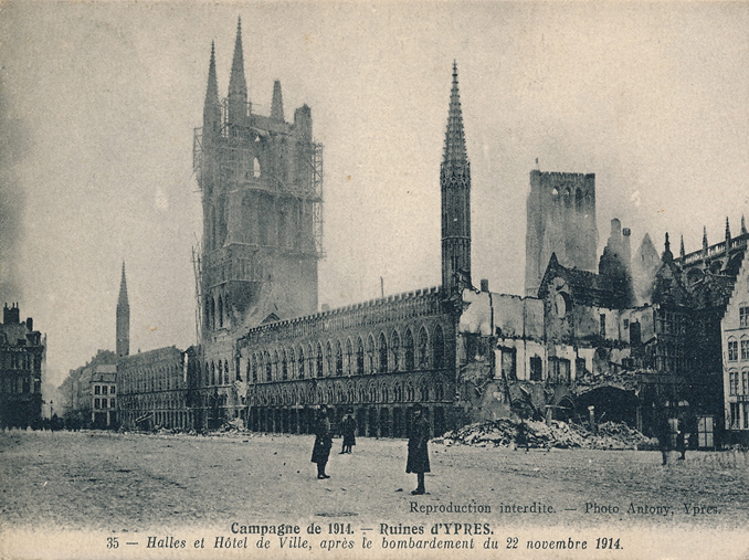 Ypres Cloth Hall in 1914